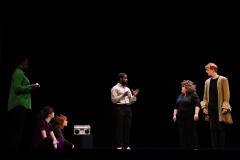10 Avril 2021 : représentation de la création Il faut partir sans dire adieu, clôturant un atelier de création de la promotion 2021 du Conservatoire National Supérieur d'Art Dramatique de Paris. Paris (75), France.